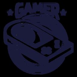 Insignia de videojuego vintage