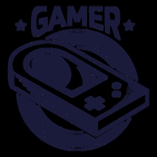 Distintivo de videogame vintage Transparent PNG