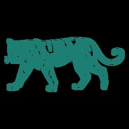 Diseño de aspecto lindo tigre caminando