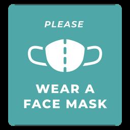 Usar citação de aviso de máscara facial
