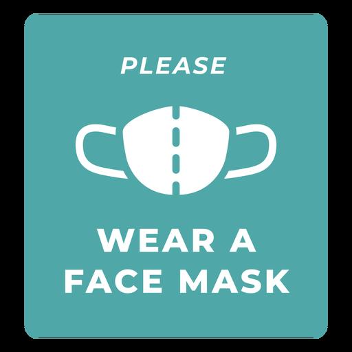 Citação de aviso de máscara facial