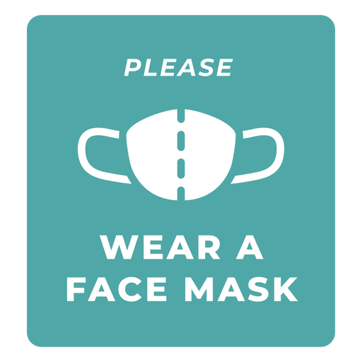 Wear face mask warning quote Transparent PNG