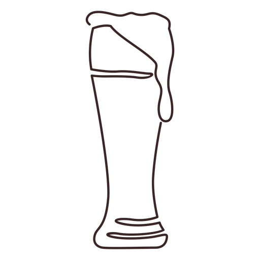 Weizen beer glass line drawing Transparent PNG