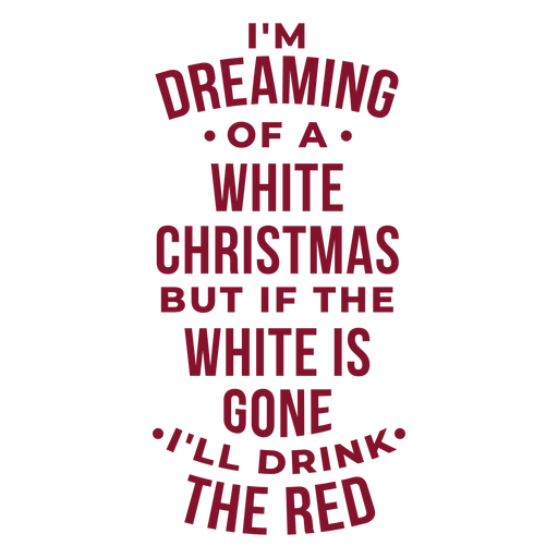 Wishing a white christmas wine bag Transparent PNG