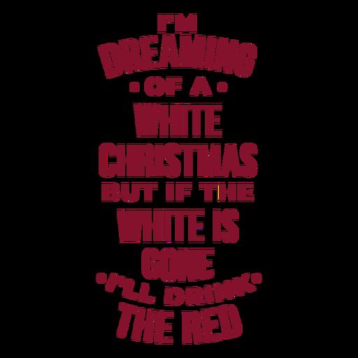 Wishing a white christmas wine bag