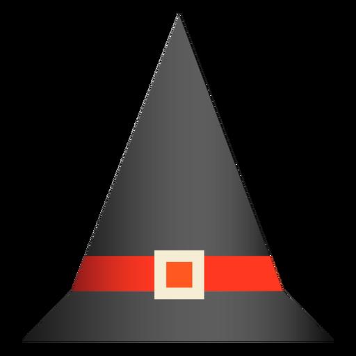 Desenho de chapéu clássico de bruxa