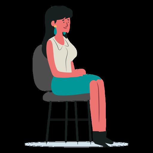 Carácter de mujer sentada en la silla Transparent PNG