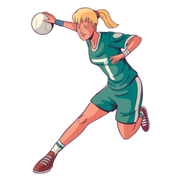 Woman handball player illustration
