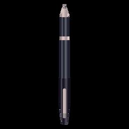 Pluma de escritura diseño realista negro