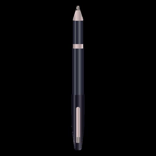 Bolígrafo de escritura diseño realista negro