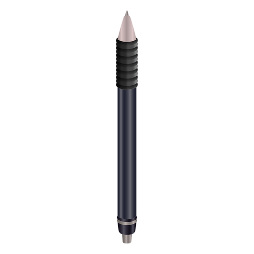 Diseño realista de pluma negra de escritura