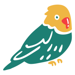 Pájaro tropical de cabeza amarilla