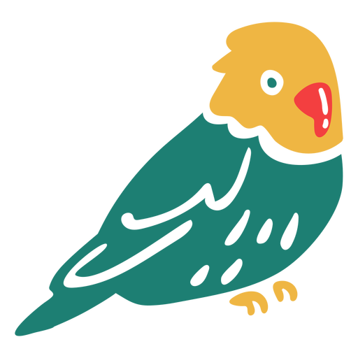 Yellow headed tropical bird