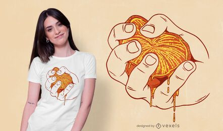 Diseño de camiseta naranja exprimido