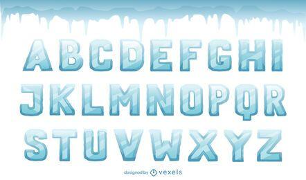 Eisalphabetbuchstabensatz