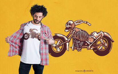 Design de camiseta com esqueleto de bicicleta