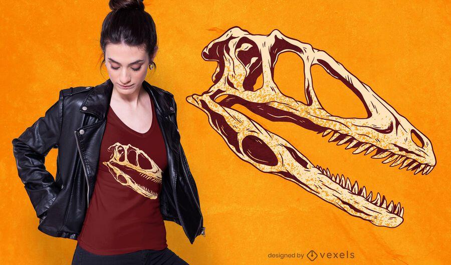 Dinosaur skull t-shirt design