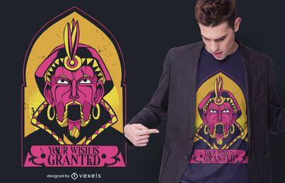 Fortune teller machine t-shirt design