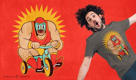 Design de t-shirt de triciclo de lutador