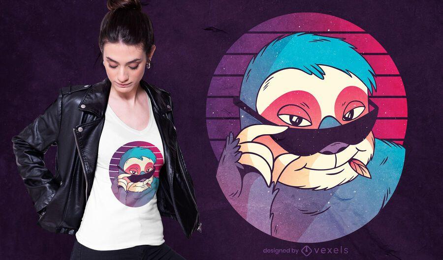 Sunglasses sloth t-shirt design