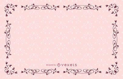 Diseño de marco vintage con adornos