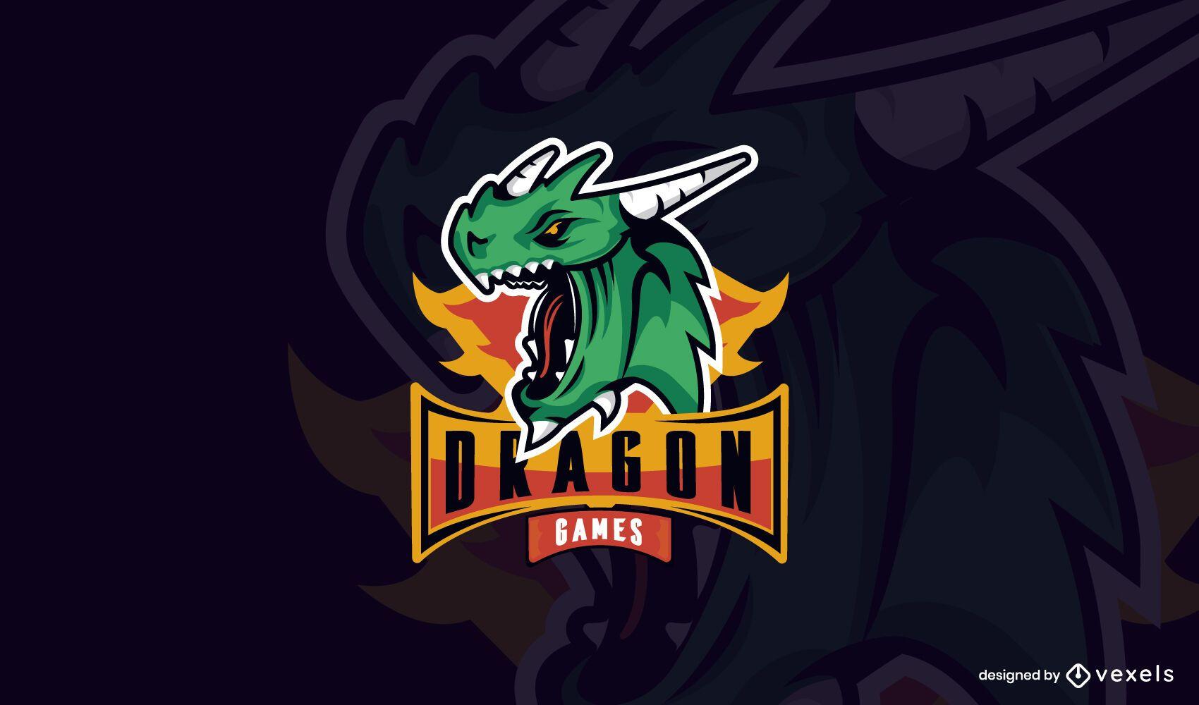 Dragon games logo template