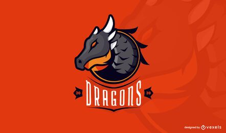 Modelo de logotipo do Dragons