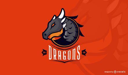 Plantilla de logo de dragones