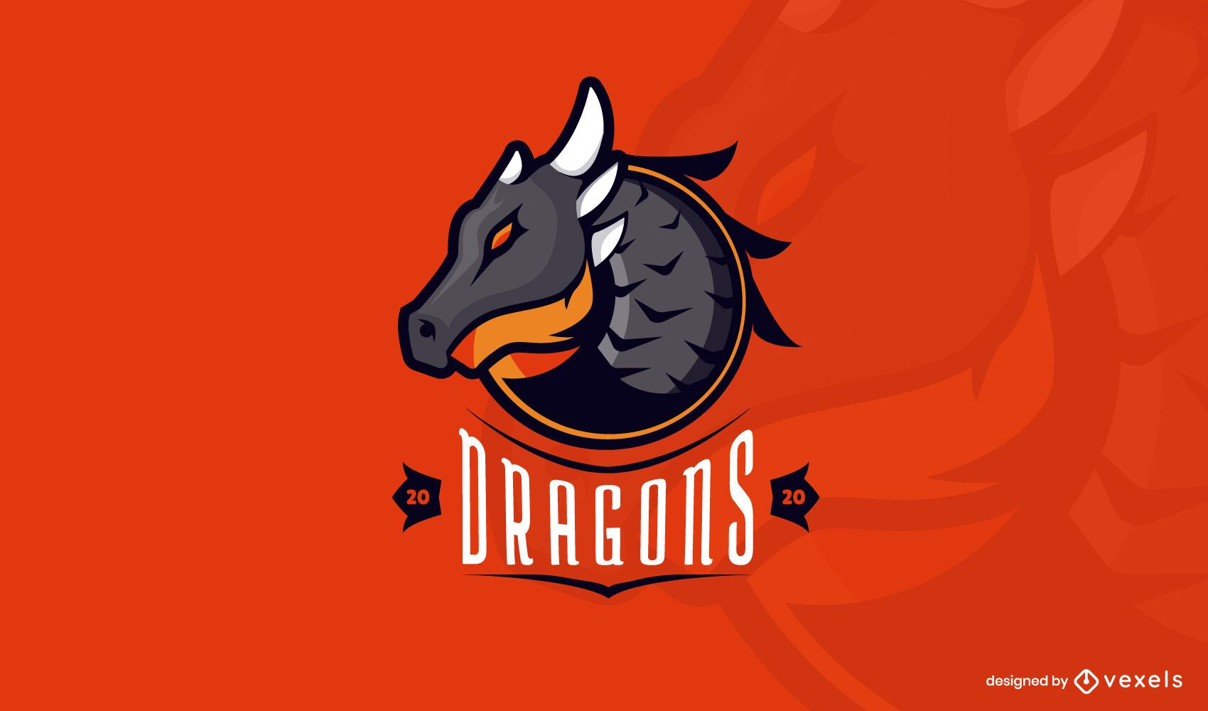 Dragons logo template