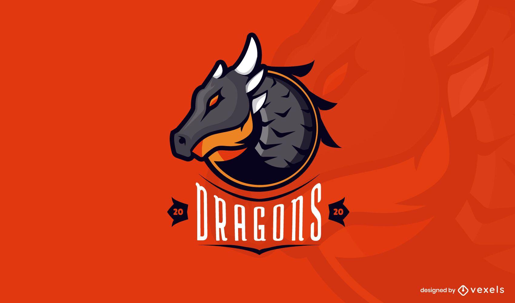 Modelo de logotipo do Dragons