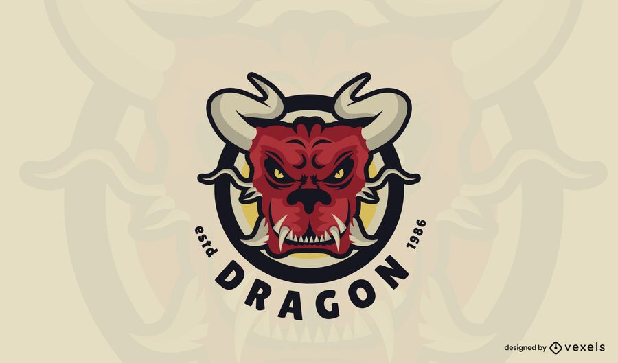 Red dragon logo template