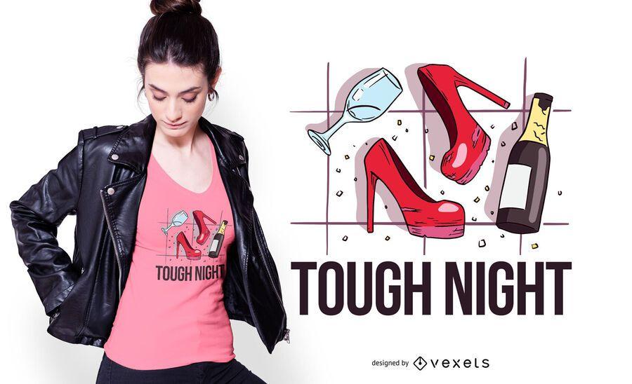 Design de camiseta para noite difícil