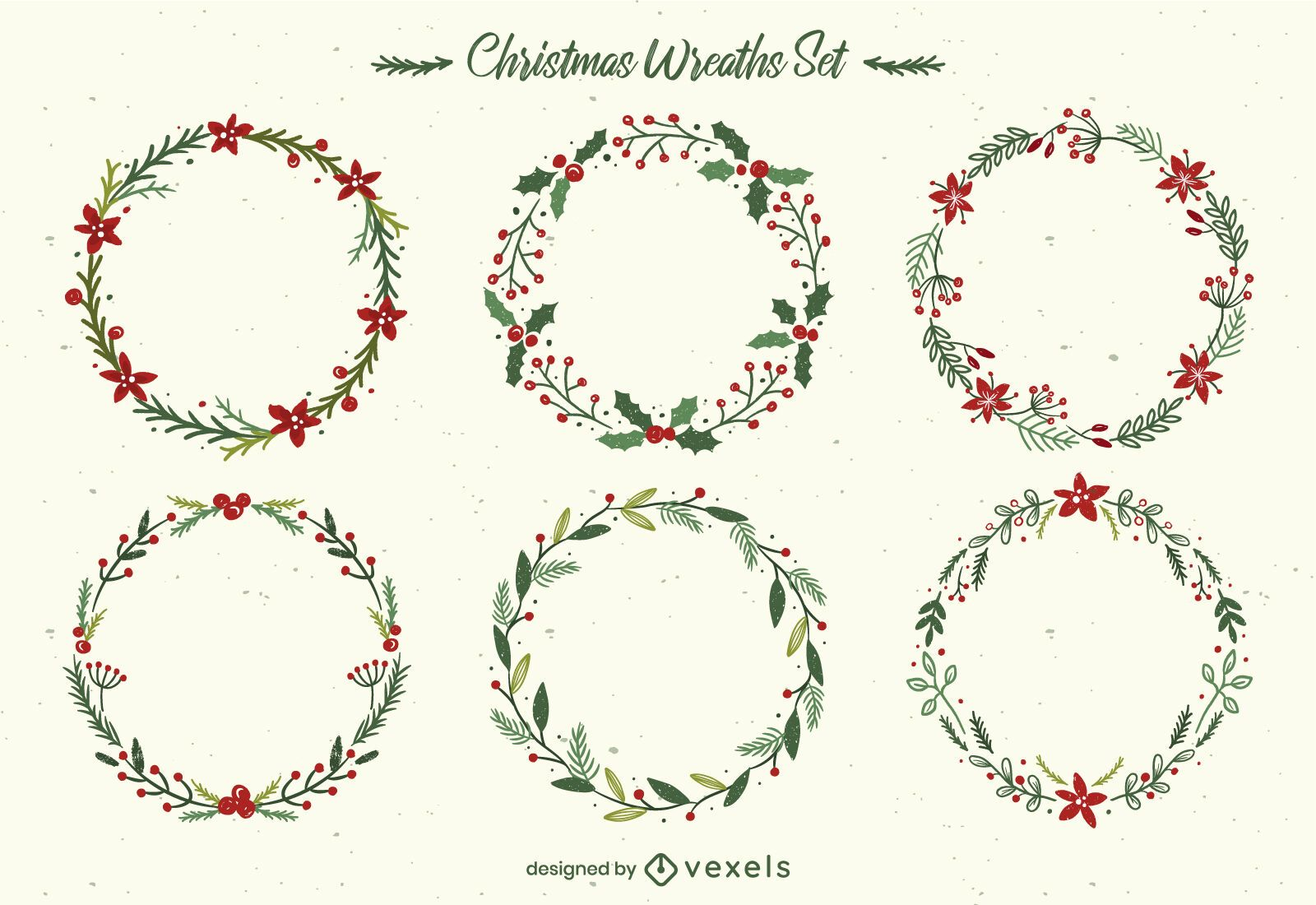 Christmas Floral Wreath Pack