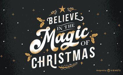 Magia del diseño de letras navideñas