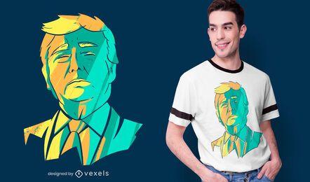 Diseño de camiseta de cabeza de Donald Trump