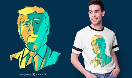 Donald Trump head t-shirt design