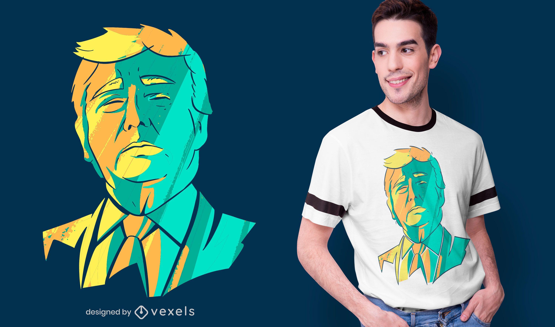 Dise?o de camiseta de cabeza de Donald Trump