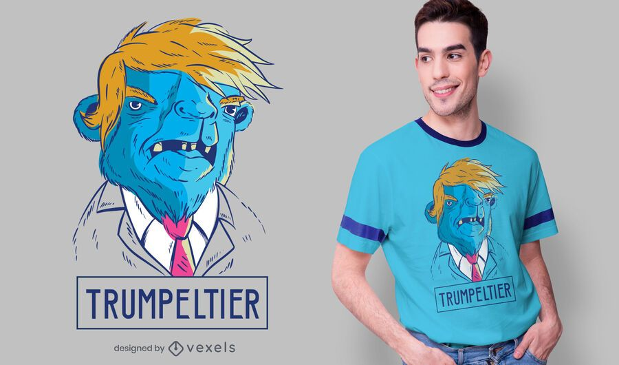 Camel Trump T-shirt Design