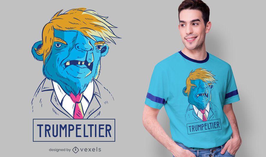 Design de t-shirt de camelo Trump
