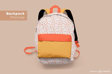 Plantilla de maqueta de mochila escolar
