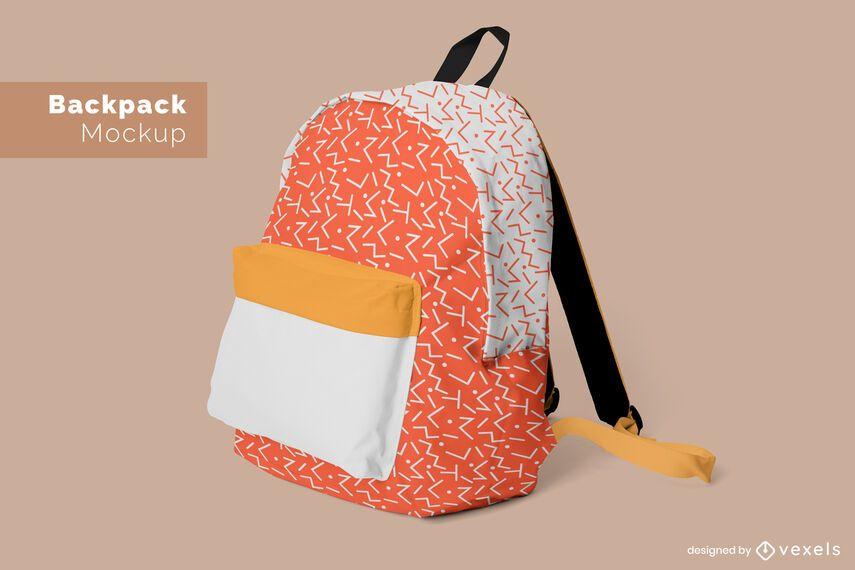 Backpack pattern mockup