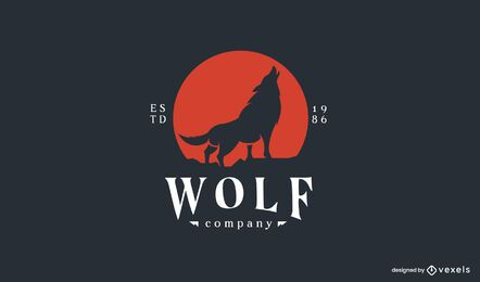 Wolf company logo template