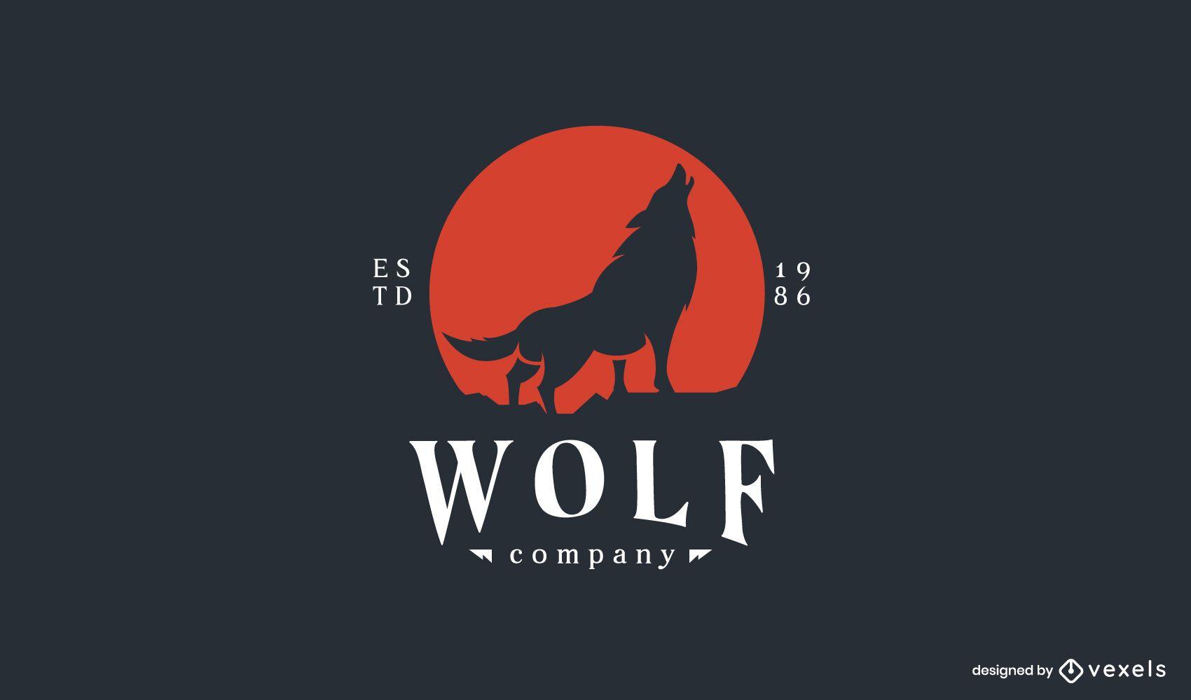 Wolf company logo template
