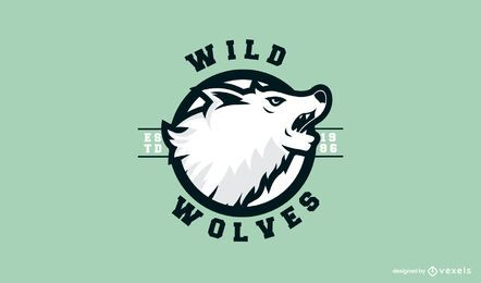 Wild wolves logo template