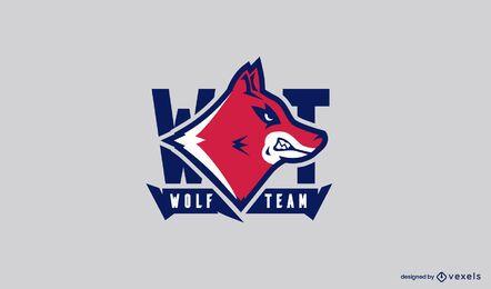 Modelo de logotipo de equipe lobo