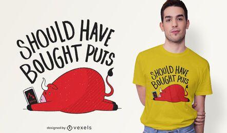 Design de t-shirt de cotação de negociação de ações