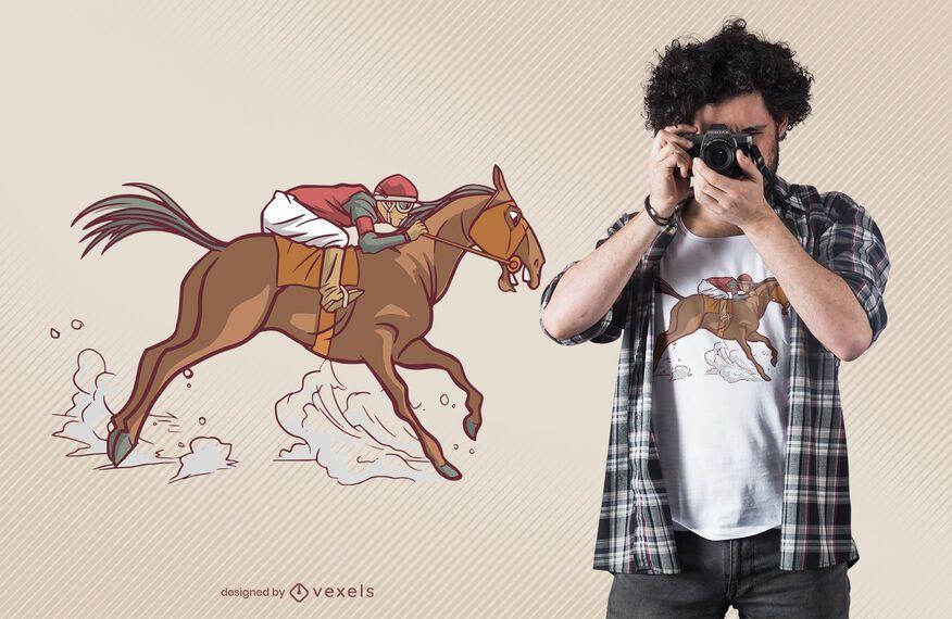 Design de t-shirt de equitação