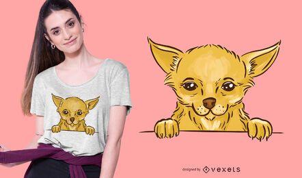 Diseño lindo de camiseta chihuahua