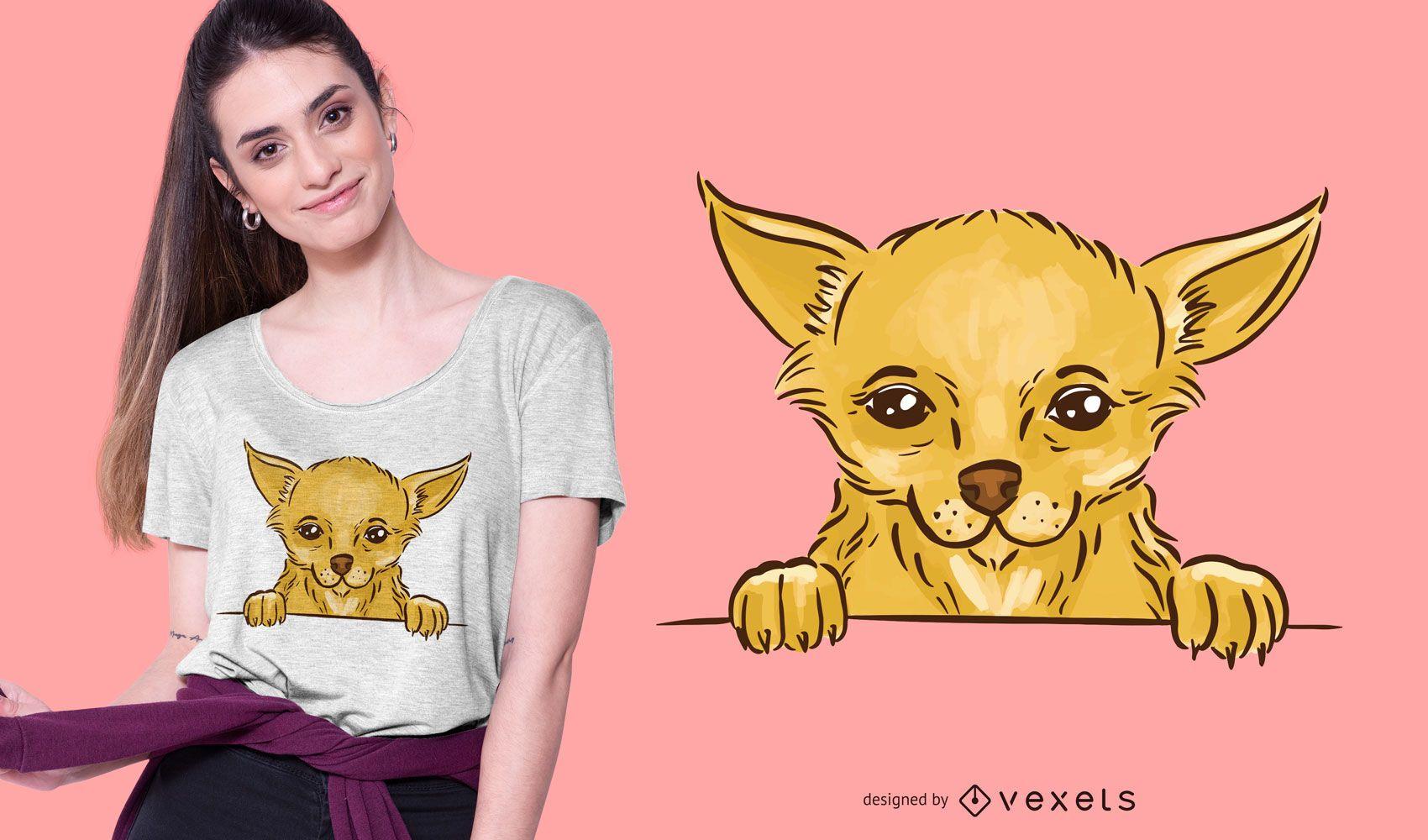 Cute chihuahua t-shirt design