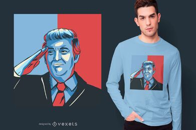 Donald Trump salute t-shirt design
